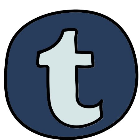 Tumblr icon in Doodle