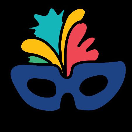 Venetian Mask icon in Doodle