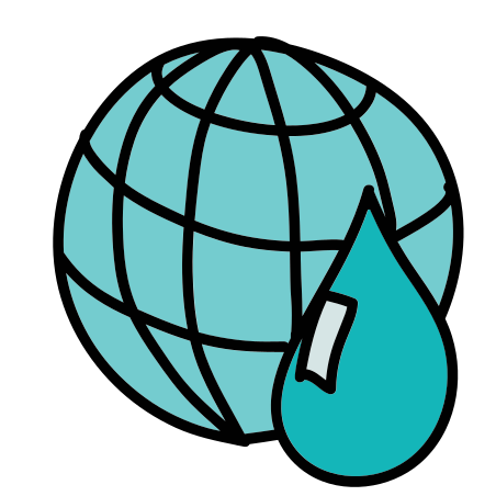 Water Resources of the Earth icon in Doodle