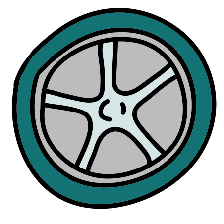 Wheel icon in Doodle