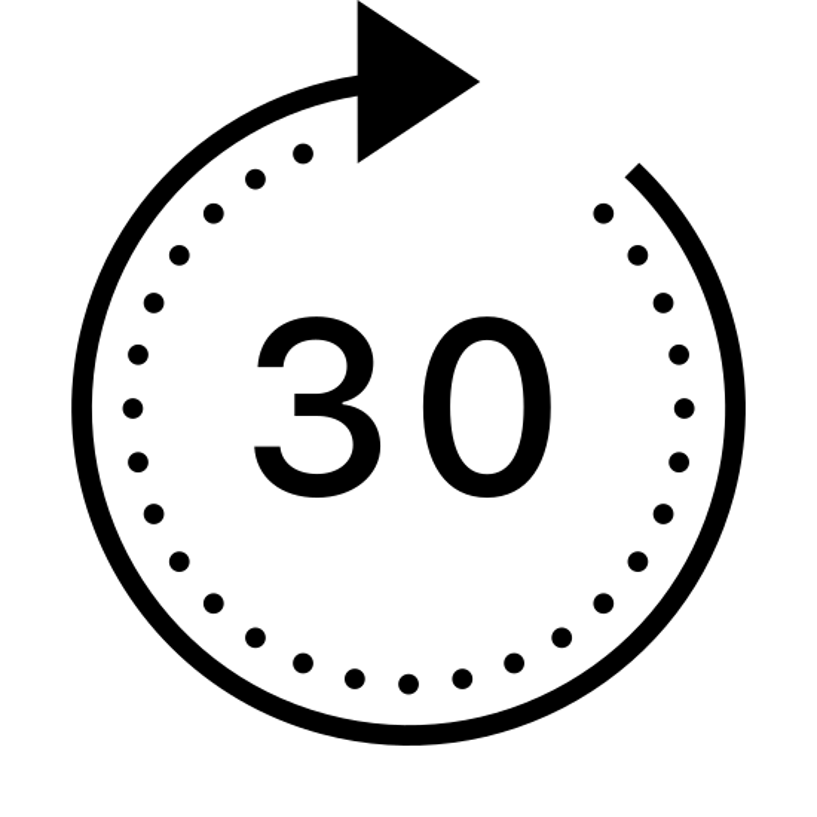 Forward 30 icon