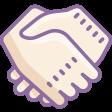 dusk handshake icon