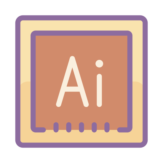 Adobe Illustrator icon. The icon is Square shaped. The icon has the letters 'A' and 'i' in the center of the icon.