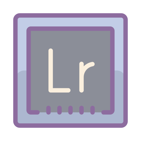 """Adobe Lightroom icon. This is a picture of a box. in the center of the box is the capital letter """"L"""" and next to it, a lowercase letter """"r"""". it seems to be an icon for a computer program from Adobe"""