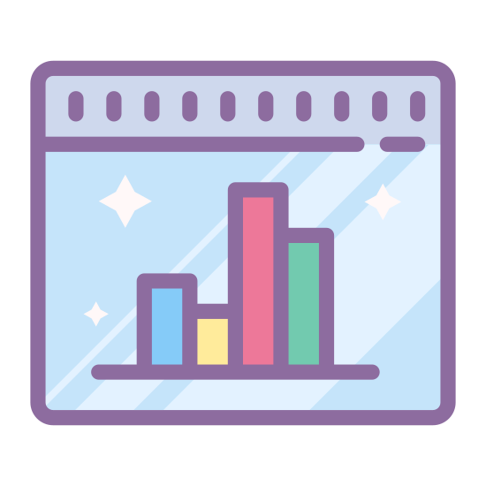 Bar Chart icon. This icon looks just like a bar chart, but uses only three rectangles of various heights. The rectangles are ordered from left to right with the middle sized one on the left, the shorter one in the middle, and the taller one on the right.