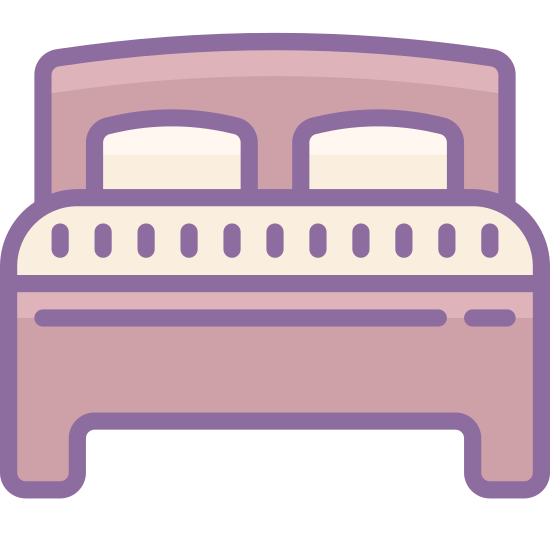 Bed icon. The bed is something that all maner of species use to rest on. They can come in all sort of sizes. They are one of the most common things that you can find in homes