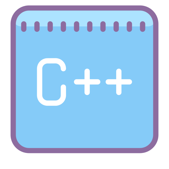 "C Plus Plus icon. This icon shows the letter ""c"" next to two plus (or addition) signs. The purpose of the icon is to convey to the onlooker the programming language called ""c++""."