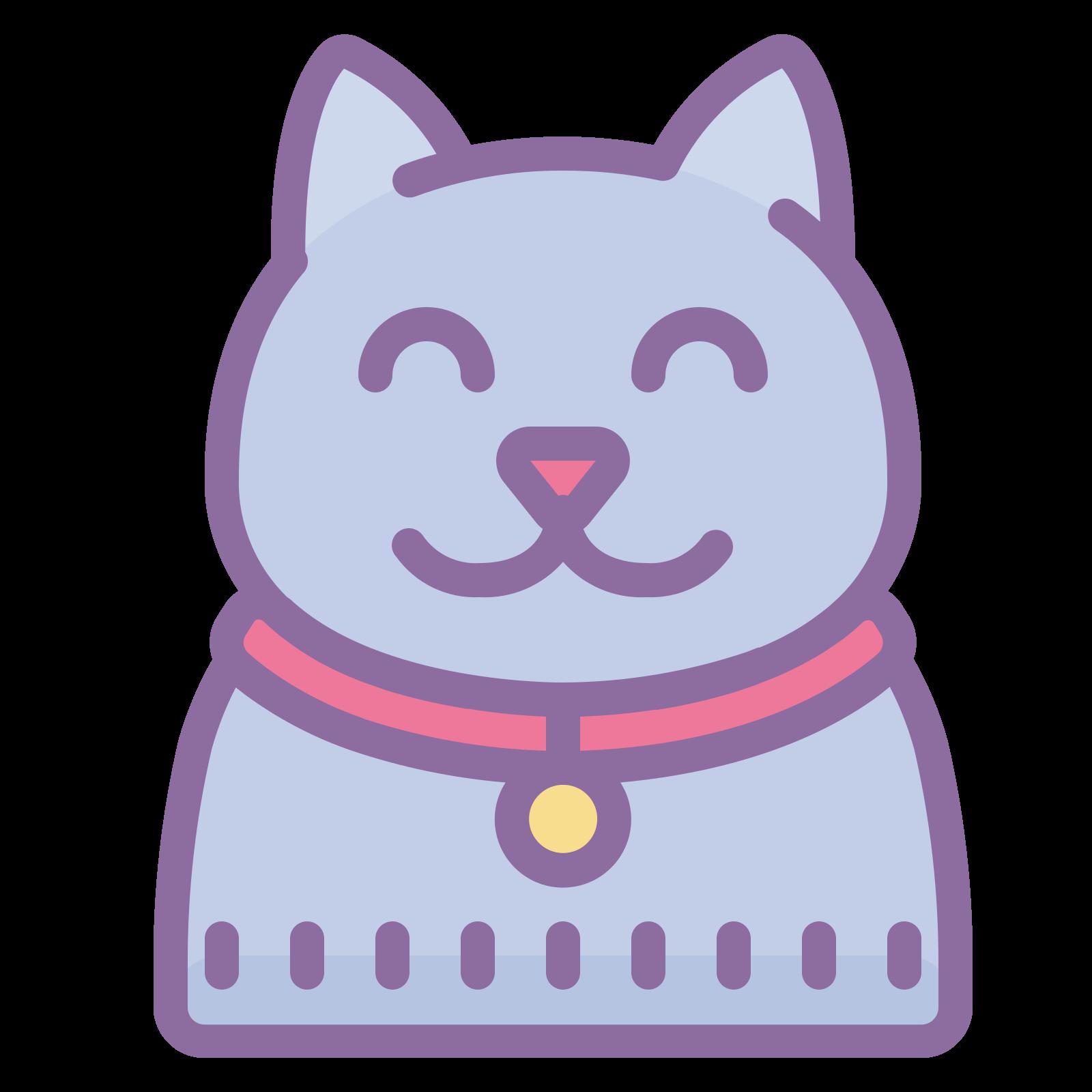 ネコ icon. This is a picture of a cat with three legs. It's face is pointed towards you and you can only see it's two eyes, but no mouth or nose. It's ears are pointed upwards, and it's tail is slanted on top of it's body. The legs are very long.