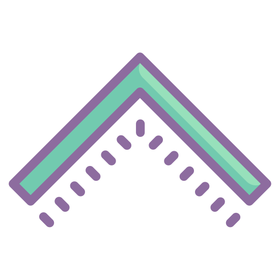 Collapse Arrow icon. The icon is a picture of a collapse arrow. It is an arrow, but with no line extending from the point. It is shaped more like an indian Tee pee or the roof of someones home.