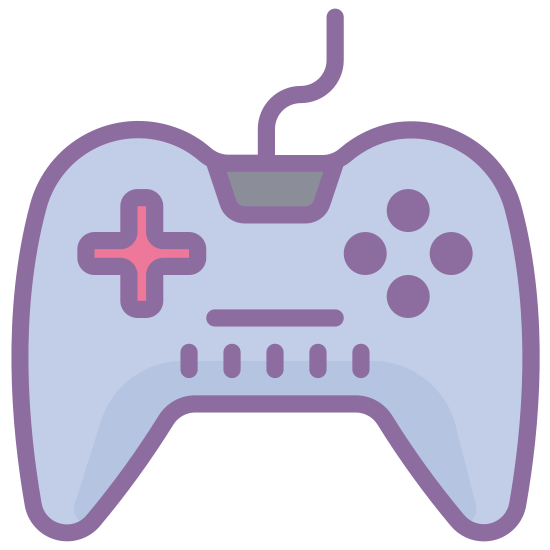Kontroler icon. A controller icon is a U shaped object because the top and bottom of the controller forms a U hand has with a wire attached. Inside the shape there are usually 4 buttons on the right side and on the other side there is a plus sign, but the plus sign is also another 4 different buttons.