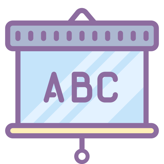 Course icon. The icon has three connected vertical rectangles. The rectangle at the center is slightly than the other two. The first rectangle has a horizontal line towards the top and two towards the bottom, the center one has at towards the top and one at the bottom, and the last has one up top and two at the bottom.