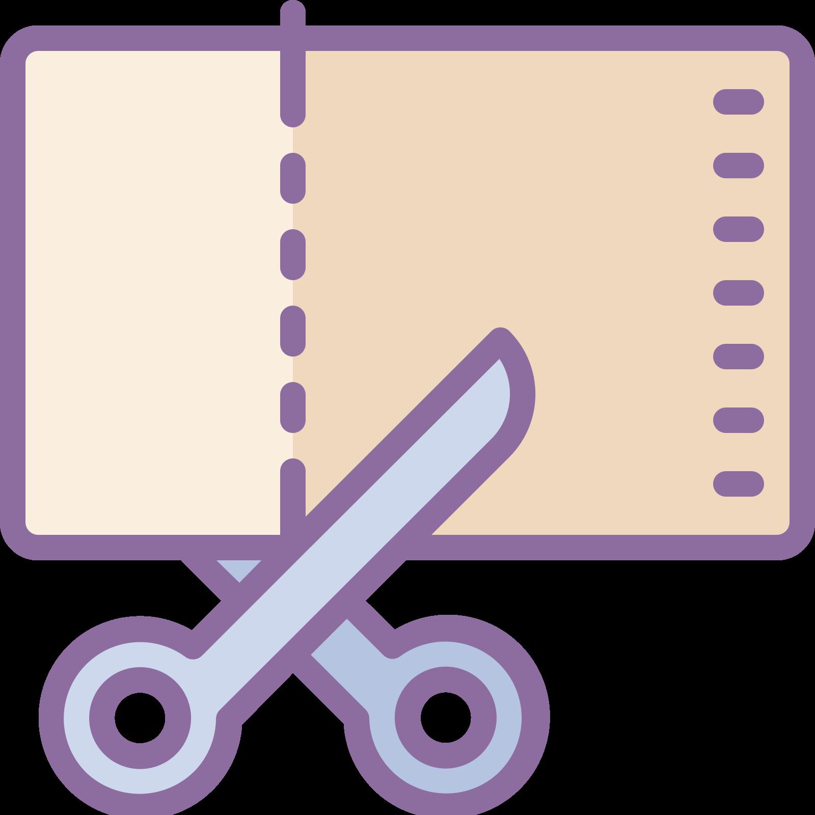 カット icon. A pair of scissors opened and pointed right. They appear to be pretty sharp scissors. Not the kind you would give to a child.