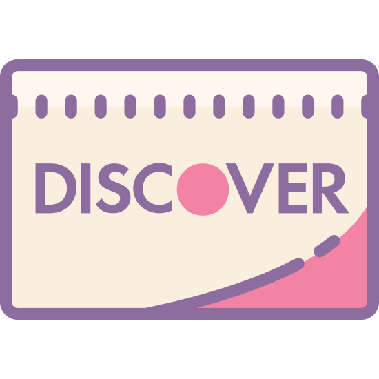 "Odkryć icon. This is a square that has rounded corners. The middle of the square has the DISCOVER card logo. The DISCOVER card logo consist of the word ""DISCOVER"" in all capital letters, with the center of the O filled in."