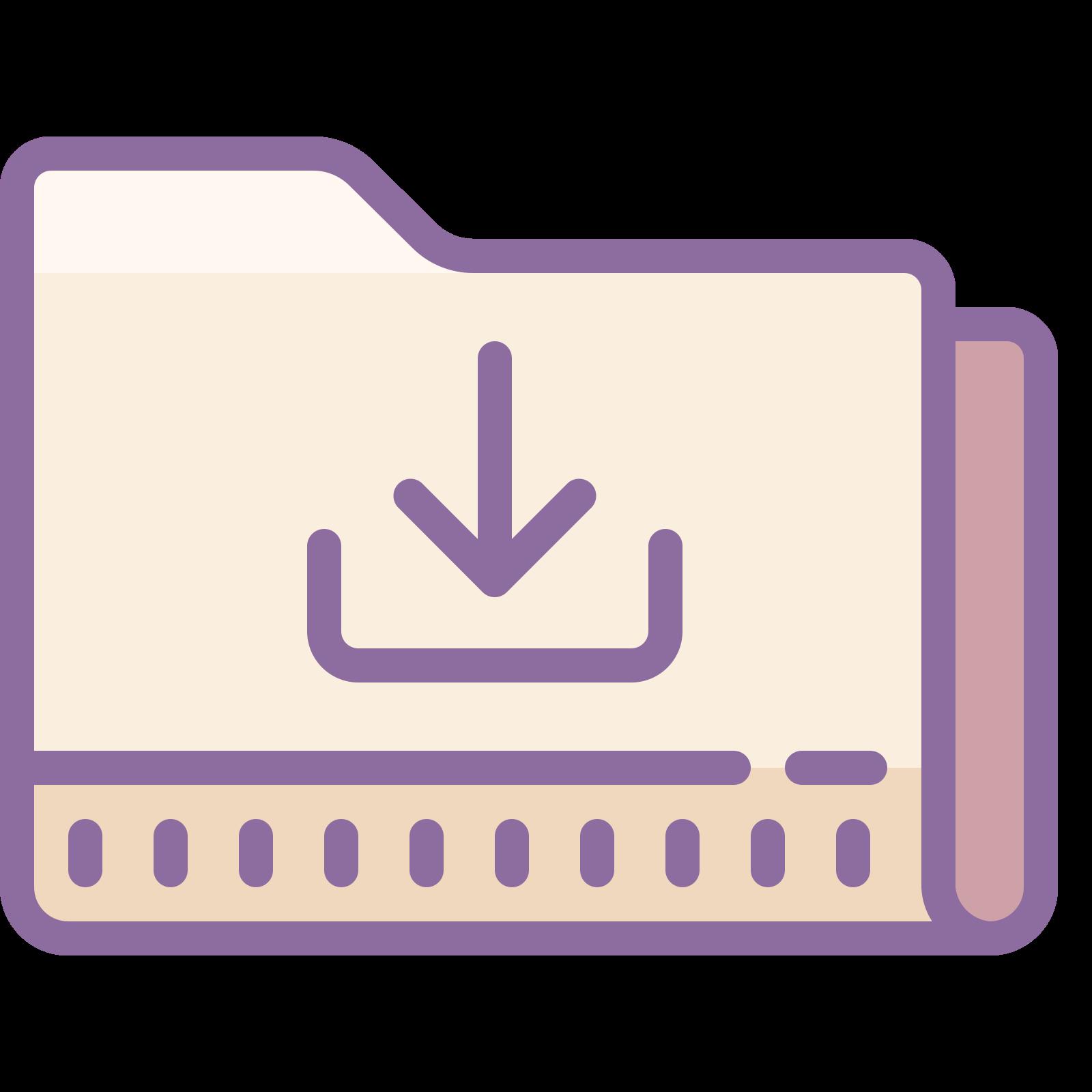 Folder Pobrane icon