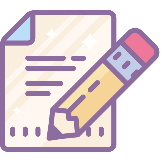 Edytuj plik icon. The edit file icon, a piece of paper with the top right corner folded over. In the bottom right corner, an angled pencil obscures the paper. This is what people click to edit the file they're viewing.