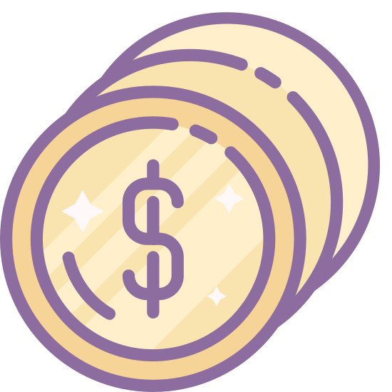 Expensive icon. The icon shows a round button with the number one. it is three circles that appears to make a base for the button that has the number one prominently shown on the front.