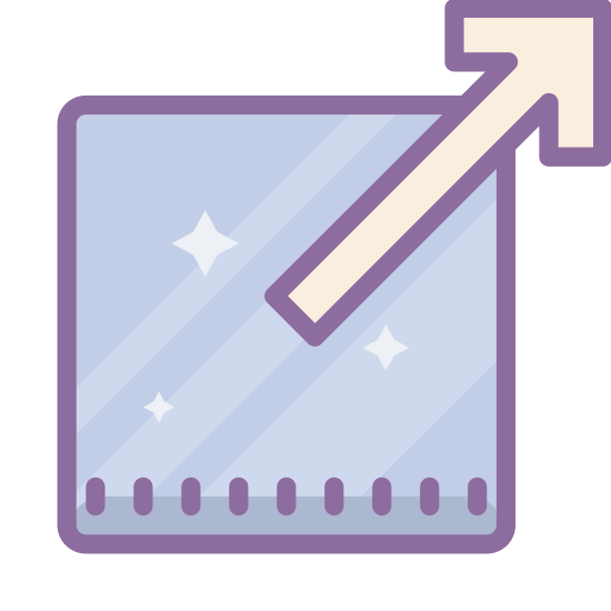 External Link icon. The icon is of an external link, made up of an arrow pointing out of the upper right corner of an unfinished box. This symbolizes linking to a resource not found within the present document.