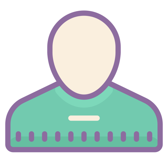 "Customer icon. This icon for ""gender neutral user"" is an image of a persons head and upper half of his or her torso. There are no features such as hair or ears depicted in the image, just the shoulders and head of a person."