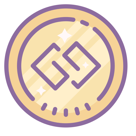 Gg icon. It's a logo of GG reduced to two capital letter G's. The two letters are enclosed in a circle and are interconnected with one another.