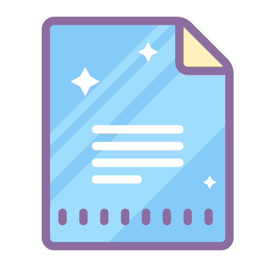 Dokumenty Google icon. This icon of Google Docs is a piece of paper. It has rounded edges and the top right corner is folded over. On the lower half of the paper are a series of 4 horizontal lines, with the bottom most one being shorter than the others.