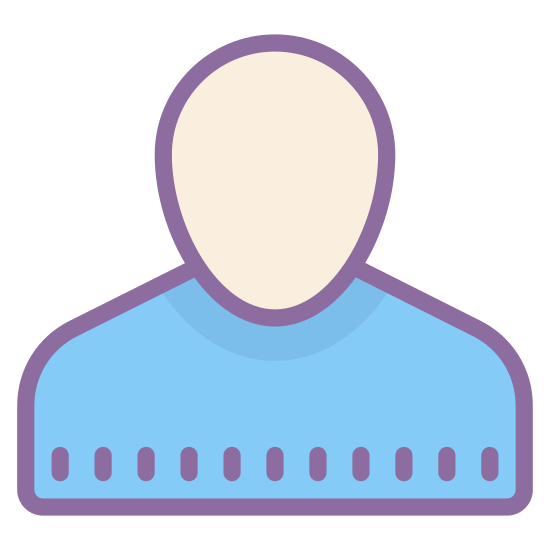 Account icon. It's a logo of Guest Male, reduced to a picture of shoulders and a head. It appears to be a normal male wearing a shirt. It looks like the guest male logo on instant messenger.