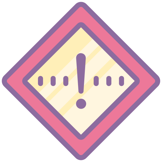 Wysoki priorytet icon. There is a single diamond shape, and in the center of the diamond shape is an exclamation mark. There's no other detail to the sign or any other marking on it, it seems like a warning sign of a sort.