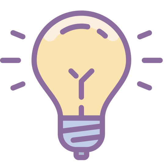 "Idea icon. It is a light bulb. Inside of it, there is a ""Y"" sort of drawing to indicate the inner workings of the bulb. It also has the screwing part on the bottom of the bulb."