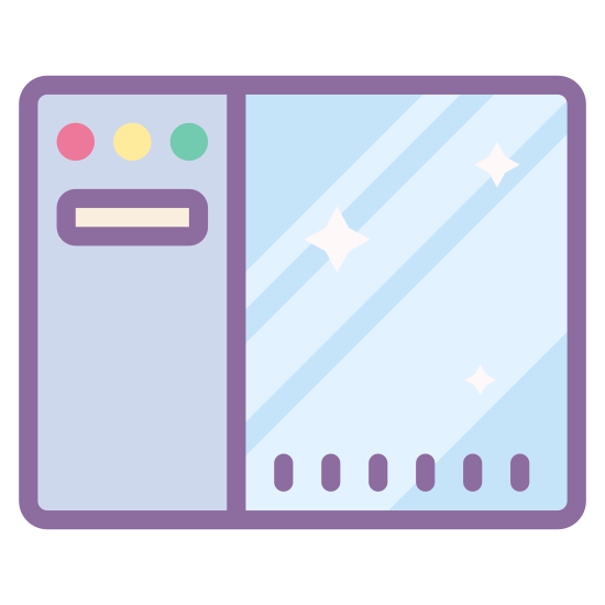Navigation Toolbar Left icon. The navigation toolbar left is a rectangle shape and inside the rectangle it is divided in two sides. On the left side of the rectangle there will be other buttons or selections, which are represented by tiny circles or rectangles.