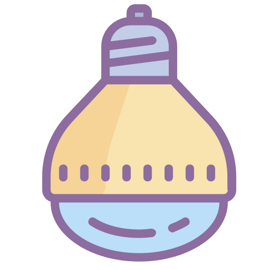 Лампа с зеркальным отражателем icon. It's the image of a modern looking light bulb.  The bulb is shaped like a cone, with a domed lens covering the top of the cone.  It looks like a high powered light bulb meant to direct a beam of light.
