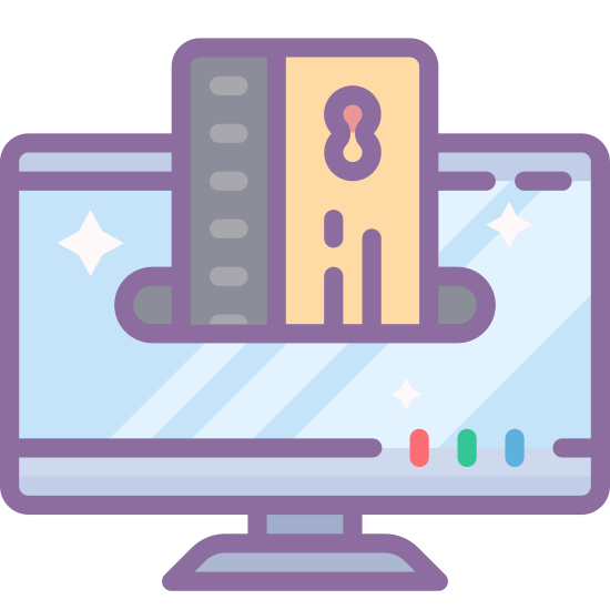 Online Payment with a Credit Card icon