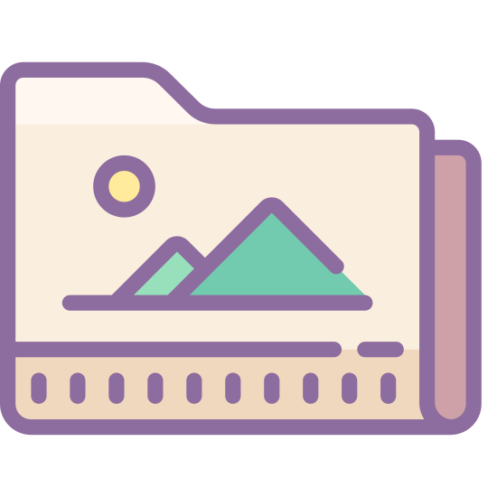 Folder obrazy icon