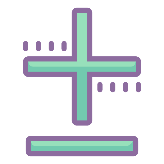 Plus Minus icon. This is a logo of a mathematical addition, or plus, symbol. Directly underneath this is the mathematical symbol for substraction, or minus. These symbols are often used in calculations.