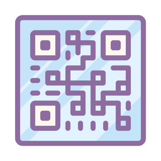 QR Code icon. This icon is a bunch of squares and lines that are really random. They represent a code that can be scanned by devices to tell you what product they represent. Each one is unique to each product.