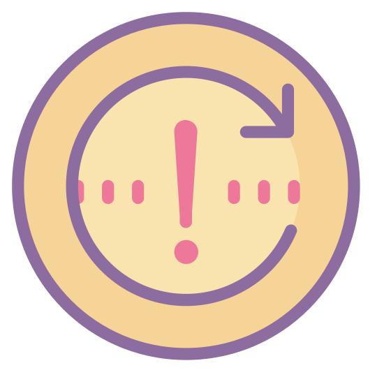 Spotkanie cykliczne icon. The logo is an arrow moving around in a perfect circle, pointing at it's tail end to indicate repetition. The circle does not close completely.