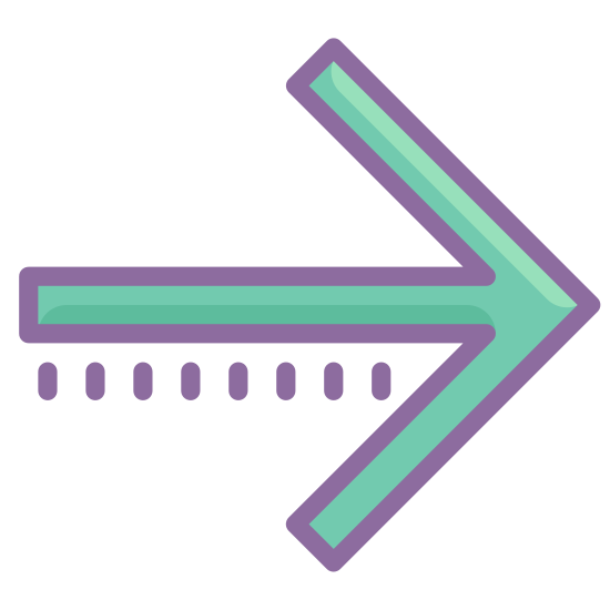 Prawo icon. This icon consists of an arrow pointing to the right. It is simply one horizontal line, with two lines at angles making a point at the right end of the line.
