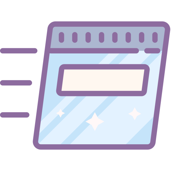 Wykonaj polecenie icon. This logo is of a credit card. It is the backside of a credit card, displaying the swipe stripe and the box for the signature. The logo is slightly slanting to the right and has three speed lines on the left side, indicating movement.
