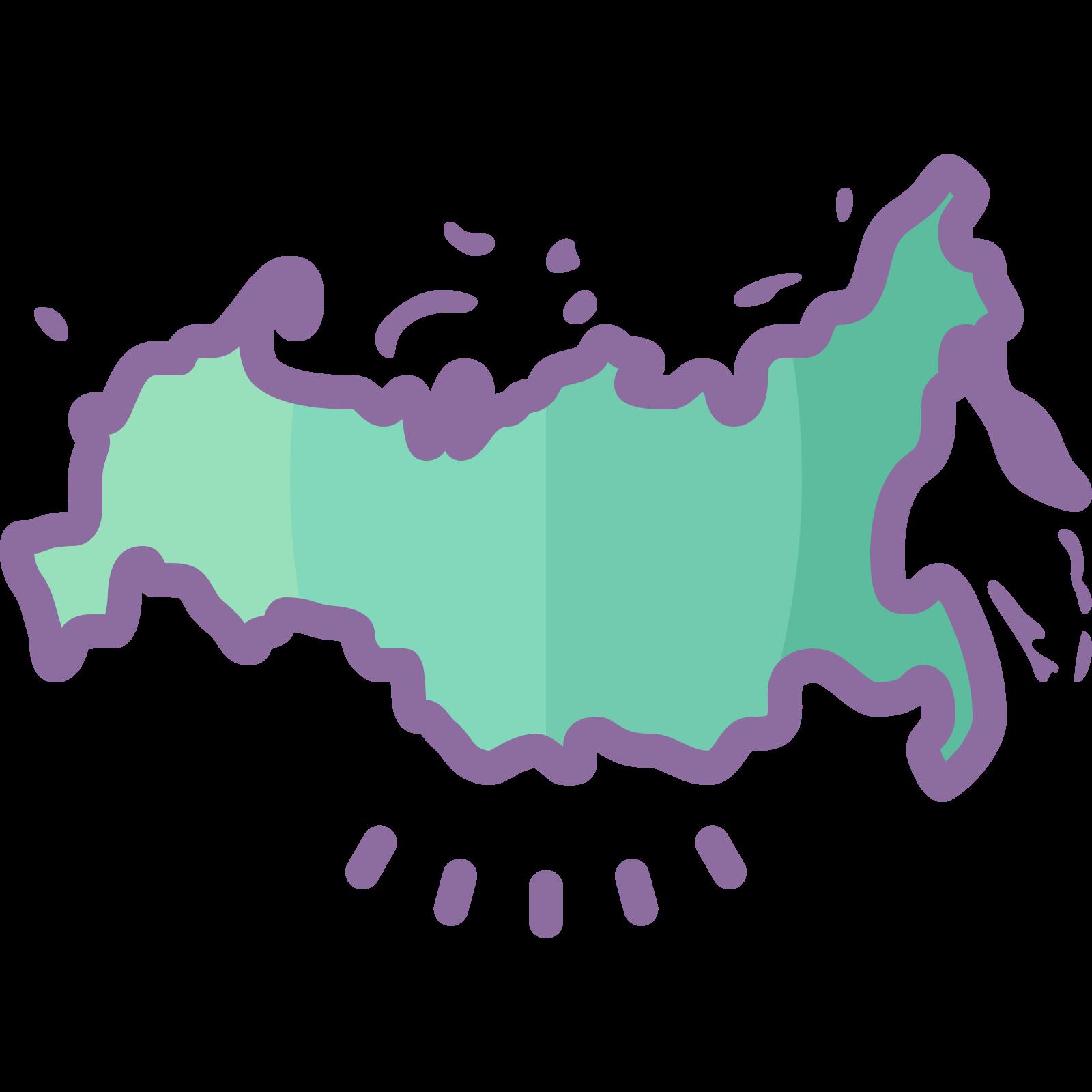 Russia Map icon