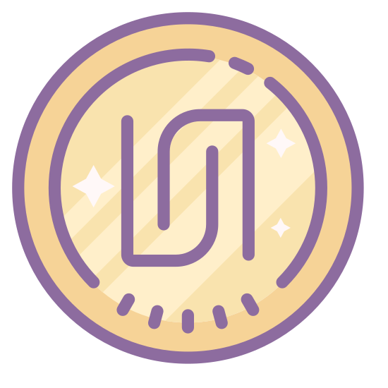 Shequel icon. It's a logo of a shekel which is a unit of weight.  The icon has a round circle around the icon.  The inside of the logo has two matching symbols.  The symbols are straight lines with hooks at the end.  They are balancing out each other.
