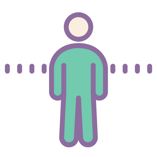 Mężczyzna stojący icon. There is a circle for a head. the body is a human body shape. there are 2 arms and 2 legs but the head is not attached to them.