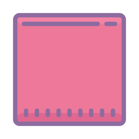 Stop icon. It's a very simple drawing of a square.  There is nothing remarkable about the square, it is a computer drawn square.  The square is drawn with medium thick lines.  There is nothing inside the square.