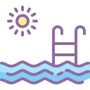 outdoor swimming-pool icon