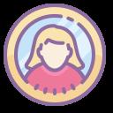 user female-circle icon