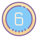 Circled 6 icon