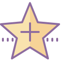 Star Outline With Plus icon