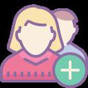 Добавить группу пользователей, мужчина и женщина icon