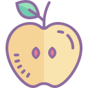 Apple With Leaf icon
