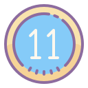 Circled 11 icon