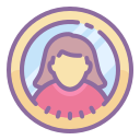 Type de peau femelle utilisateur cerclé 7 icon
