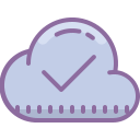 Cloud Checked icon