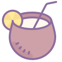 Cocktail de coco icon